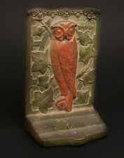 "Vintage one Metal Owl Bookend or Door Stop 5.5"" high almost 2 lbs Book End"