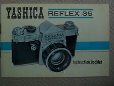 YASHICA  REFLEX  35  CAMERA INSTRUCTION  MANUAL