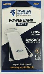 Spartan Power Boost Universal & 3 built-in cables 10.000mAh Power Bank