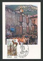 ITALIA MK CORSA DEI CERI PFERD HORSE CHEVAL MAXIMUMKARTE MAXIMUM CARD MC CM d374