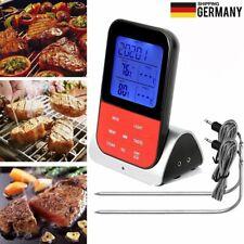 Digital Bratenthermometer Funk Grillthermometer Fleisch-Thermometer mit 2-Fühler