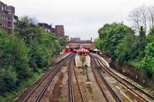 PHOTO  PUTNEY RAILWAY STATION FROM OXFORD ROAD BRIDGE 1994 VIEW WEST: EX-L&SWR W