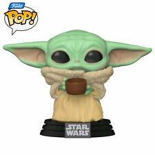 Star Wars The Mandalorian Baby Yoda The Child With Cup 378 Pop Vinyl Funko