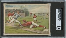 A Brush With The Ball 1888 H804-3 - Bufford Sons Lith. Co. - SGC 1