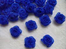 "5/8"" (W) Royal Blue Organza Ribbon Roses Appliques-50 pcs (R0101DR)"