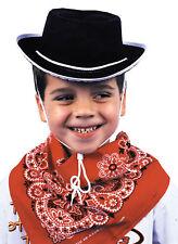 Cowboy Black Felt Child Hat With Rope & Whistle One Size Rasta Imposta