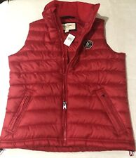 NWT Abercrombie & Fitch Men's Red Down Jacket Puffer Vest Size Large L