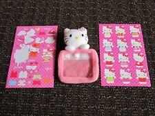 Hello Kitty Stickers & Tiny Stuffed Animal Case Purse ID Window Holder FREE SHIP