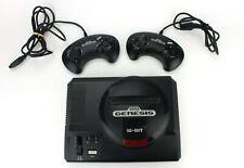 Sega Genesis Video Game Console Mega Drive 16 Bit Model 1601 2 Controllers (731)