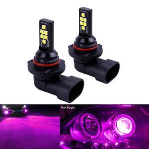 2x H10 Pink Purple LED Bulbs SMD 3030 Fog Driving Light Super Bright