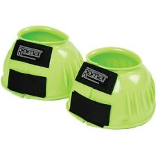 F BRIDLEWAY OVER REACH BOOTS LIME GREEN WITH VELCRO FASTENING P C XF