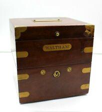 Waltham 8 Day Ships Clock Watch Marine Chronometer Wwi In Orig Box Nr #8493