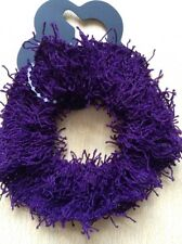 A Dark Purple Shaggy Hair Scrunchie/Bobble
