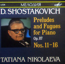 CD Shostakovich-Preludes & Fugues pianoforte op.87 NOS. 11-16, Nikolaeva, Melodiya