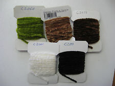 New listing Danville Rayon Chenille #2 Medium Lot of 5 Colors 4yds. Each Card