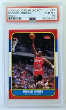 MICHAEL JORDAN 2009 UPPER DECK LEGACY GOLD 1986 FLEER ROOKIE PSA 10 GEM MINT