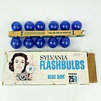 Sylvania Blue Dot Flashbulbs Press 25B Blue Bulbs 11 Total in Original Box