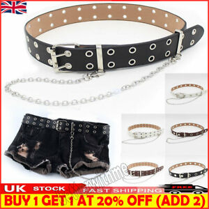 Women Punk Chain Fashion Belts Adjustable Waistband With Eyelet Chain Belt Sim