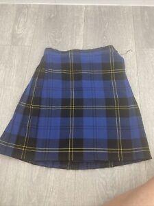 Girls Tartan School Skirt 5/6