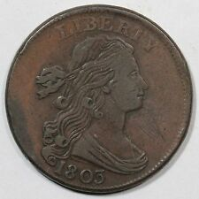 1803 S-262 R-4+ Draped Bust Large Cent Coin 1c