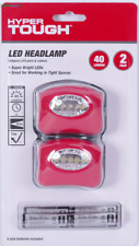 2-PACK COB LED Headlamp AAA Headlight Head Lamp W/BATTERIES - SAME-DAY SHIP
