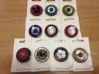 Large Coconut Shell Button topper embellishment Union Knopf 40mm dia