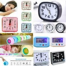 Portable Digital Snooze Battery Mini Alarm Clock Bedside Desktop Work Decoration