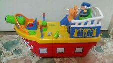 Kiddieland Play Wheeled Pirate Ship Sounds Songs Lights Lower Play Deck Rolls