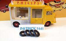 DINKY TOYS 4 pneus pour CITROËN HY  Currus Philips 587 et Currus police 566