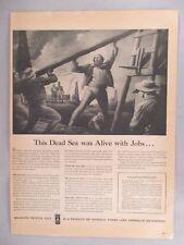 Diamond Salt PRINT AD - 1945 ~ Charles Freeman Moore, dead sea in Michigan