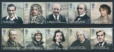 2009 GB EMINENT BRITONS SET OF 10 FINE MINT MNH SG2971-SG2980