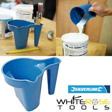 Silverline Paint Kettle Plastic Varnish Brush Holder Pot Tray Spout 600ml