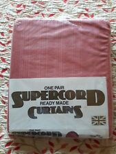 Supercord ready made curtains in pink
