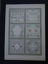 PLANCHE 7 JOURNAL DE LA DECORATION CHARLES MARTIN Jugendstil no Mucha 1900