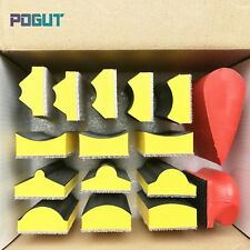 16pcs/set Abrasive Block Hand Sander Pad Base for Hook & Loop Sanding Disc Paper