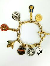 The Beatles Rare Charm Bracelet Reso Tribute Lucky Brand Collectible Marked