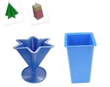 Set x 2, Rectangular Tapered Candle Mould & 6 Pointed Star Mould, UK Made. S7600