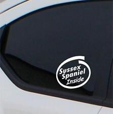 2x Scottish Deerhound Inside stickers car decal