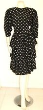 JIL SANDER SILK POLKA DOT PARTY DRESS Vintage 1980's size 36 European W. Germany