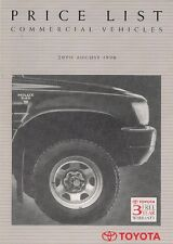 Toyota Commercial 1990 UK Market Price List Brochure Liteace HiLux HiAce