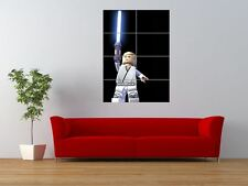 LEGO LUKE SKYWALKER STAR WARS LIGHT SABRE GIANT ART PRINT PANEL POSTER NOR0626