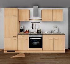 Küche buche  Küchenzeilen in Ausstattung:Kochplatte, Frontfarbe:Buche | eBay