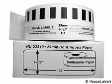 1 Roll of DK-2210 Brother-Compatible (Continuous) Labels  [BPA FREE]