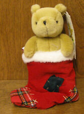 """Classic Pooh #7966B by Gund POOH in CHRISTMAS STOCKING, 7"""" NEW from Retail Store"""