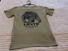 NWOT Levis T-Shirt Levi Strauss Bear Graphic Size Youth Large Heather Green