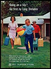 1964 Bell Telephone System Long Distance Calls Family Trip Vinatge PRINT AD