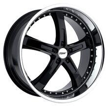19x8 TSW Jarama 5x112 Rims +45 Black Wheels (Set of 4)
