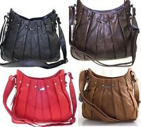 NEW REAL LEATHER LARGE LADIES SHOULDER HANDBAG TOTE  ON TREND LATEST STYLE