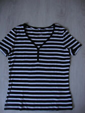 Gerry Weber T-Shirt – Schwarz/Weiß - Größe: 36     NEU