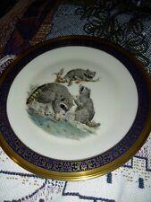 "Vintage 1973 Lenox Limited Woodland Wildlife Boehm Raccoons Plate Made Usa 11"" E"